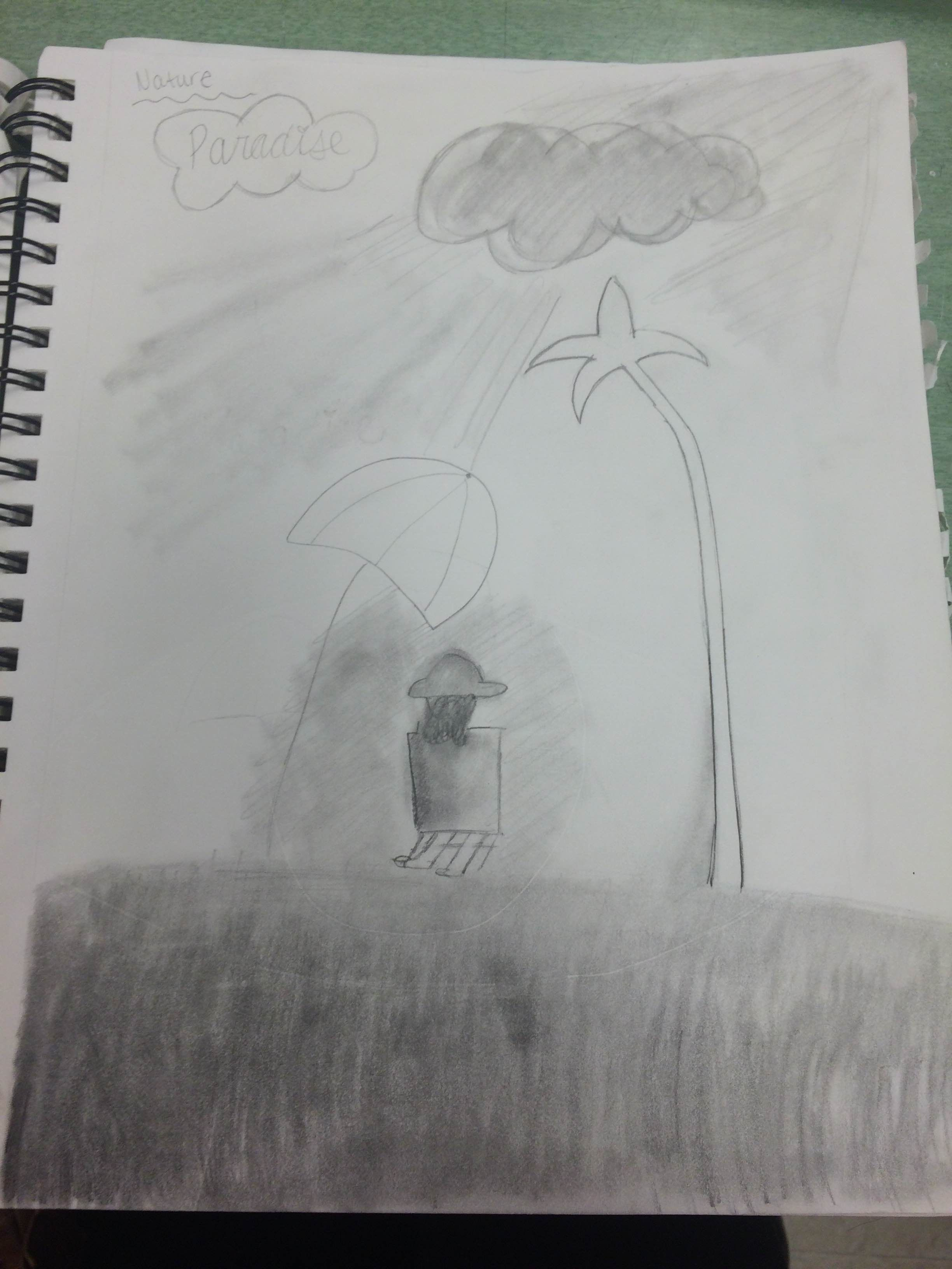 This is the nature sketchbook assignment we did.