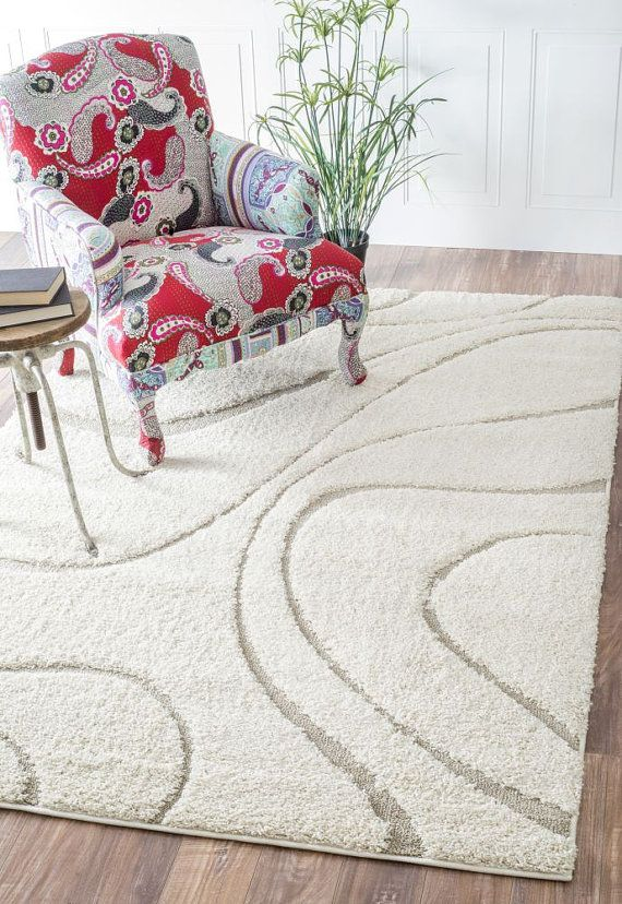 Shaggy Curves Rug Contemporary Rugs Rugs Decor