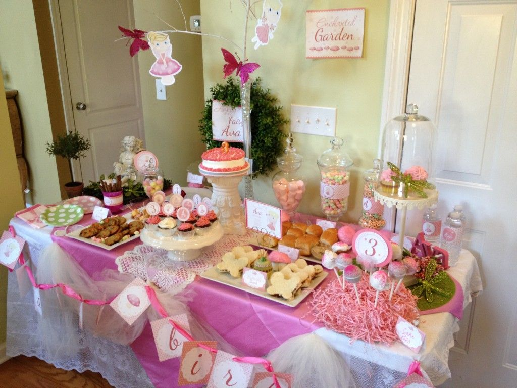 Great Way To Set Up The Food Table For Your Fairy Mystery Party