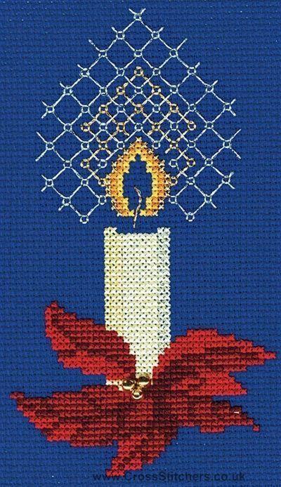 Poinsettias Derwentwater Designs Cross Stitch Kit Christmas Card