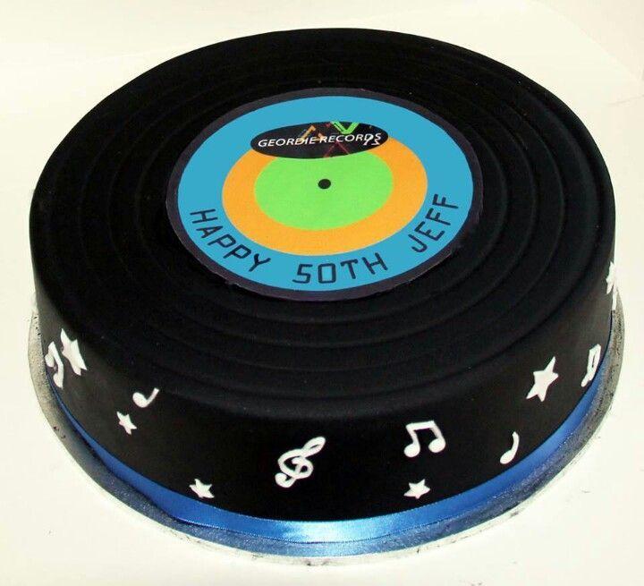 Vinyl Record Cake Google Search Record Cake Birthday Cakes For Men New Birthday Cake