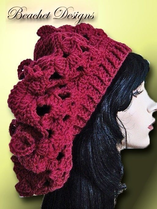 Crochet Hat Slouch Dreadlocks Crochet Pattern | Pinterest