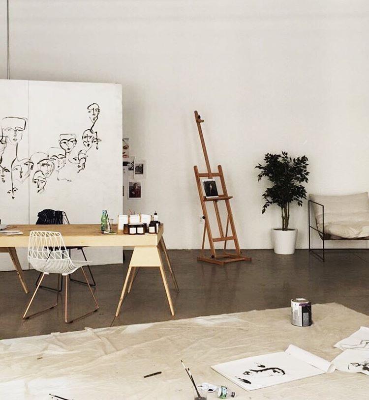 Minimalist scandinavian art studio tumblr room decor hipsters aesthetics also rh pinterest
