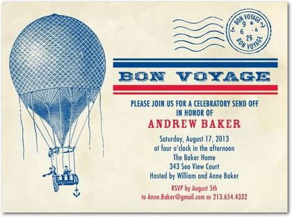 FarewellPartyInvitationWordingBonVoyageCelebrationBlue