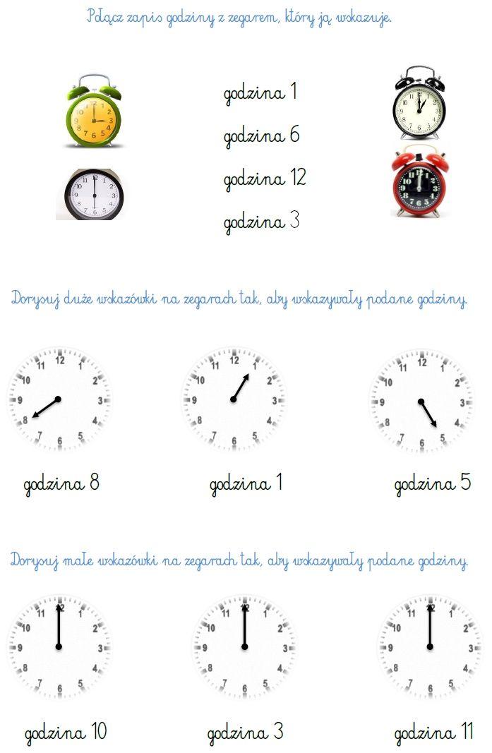 Zegar Zadania Blog Edukacyjny Dla Dzieci Matematyka