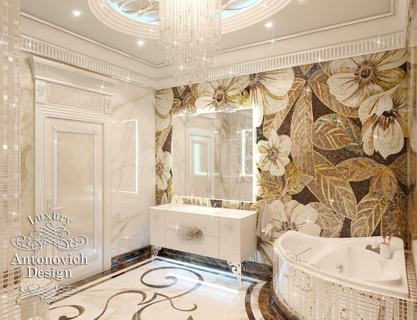 элитный дизайн ванной комнаты фото