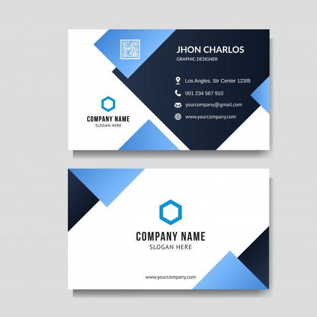 Modern Blue Business Card Background Blue Business Card Visiting Card Design Business Cards Vector Templates