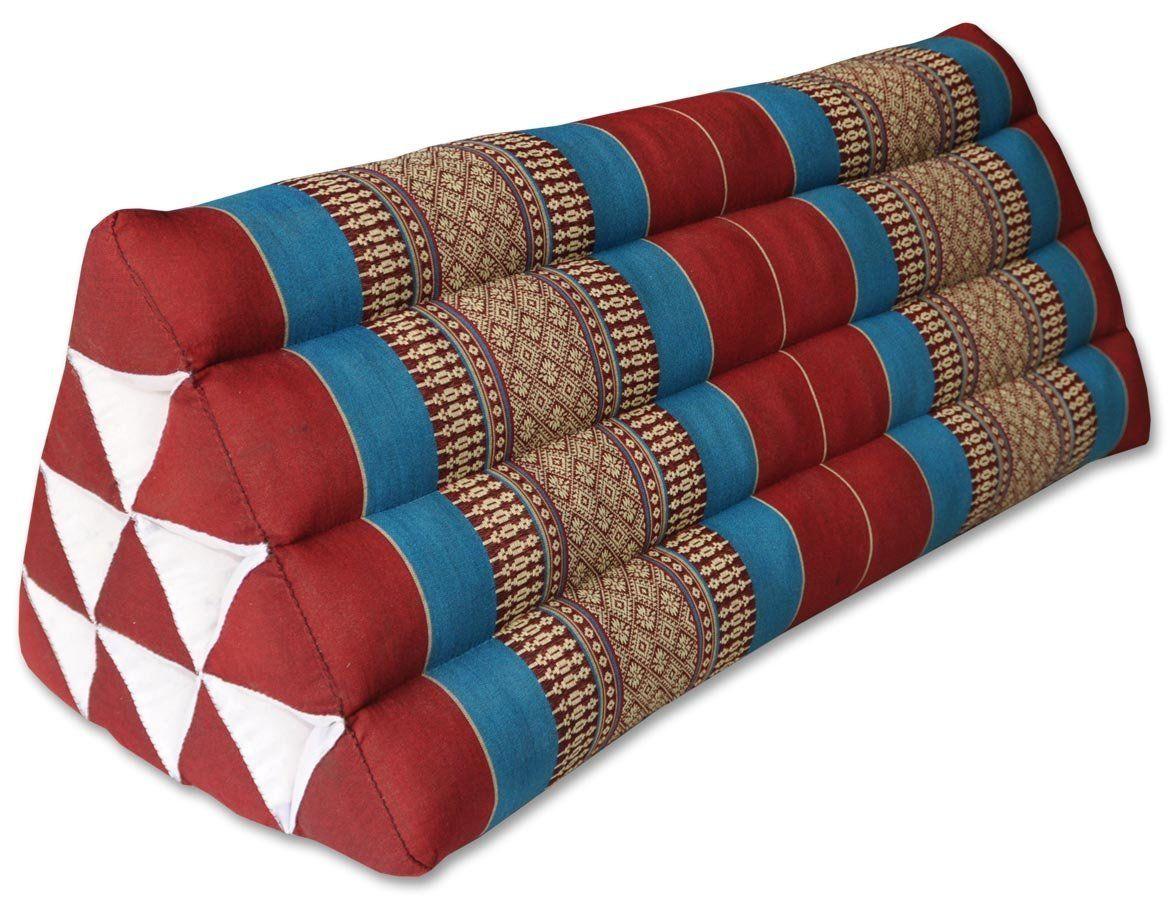 Kapok Thaikissen, Dreieck XXL in verschiedene Farben (81215 - rot ...
