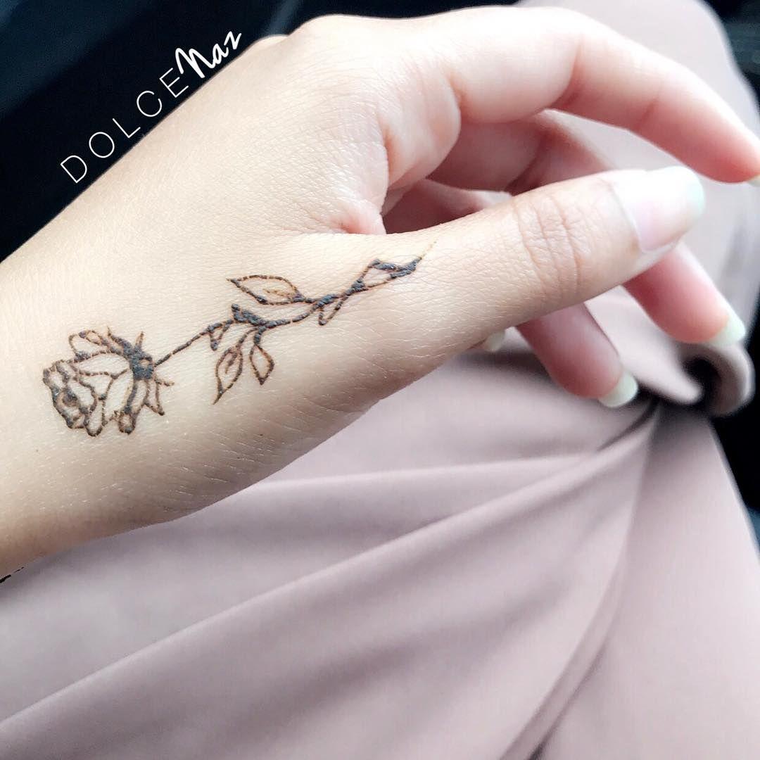 Rose Henna Simple Henna Tattoo Rose Henna Small Henna Tattoos