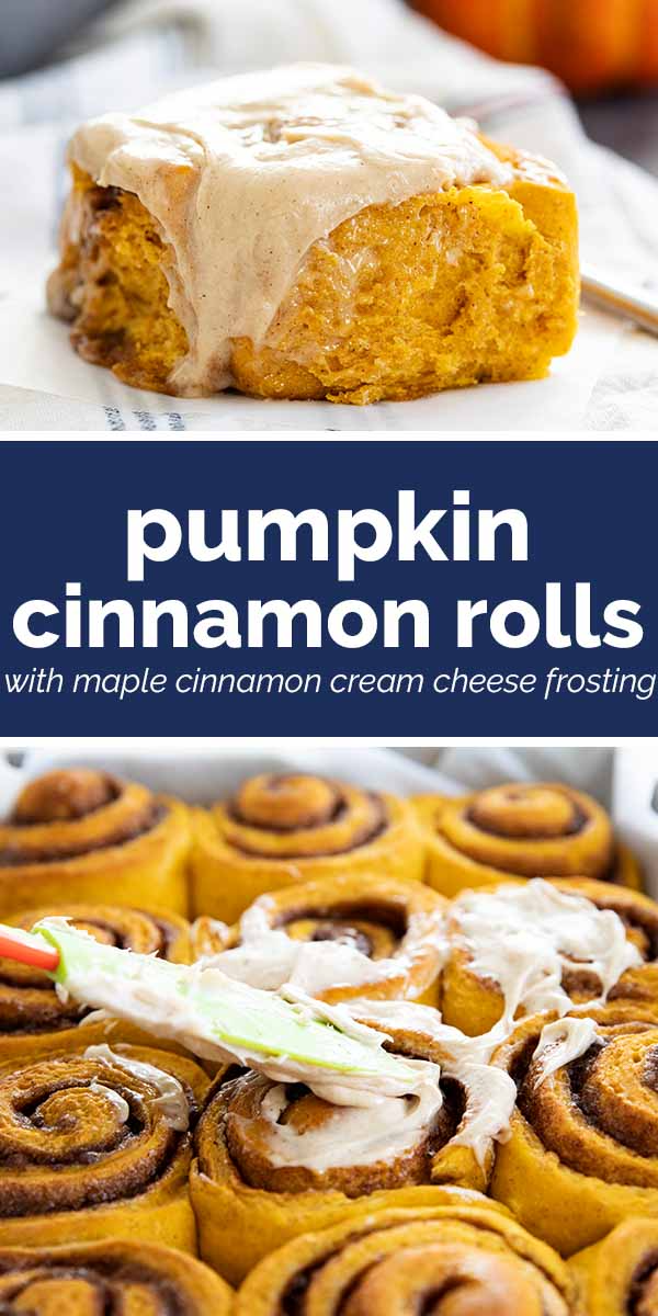 Pumpkin Cinnamon Rolls with Maple Cinnamon Frostin