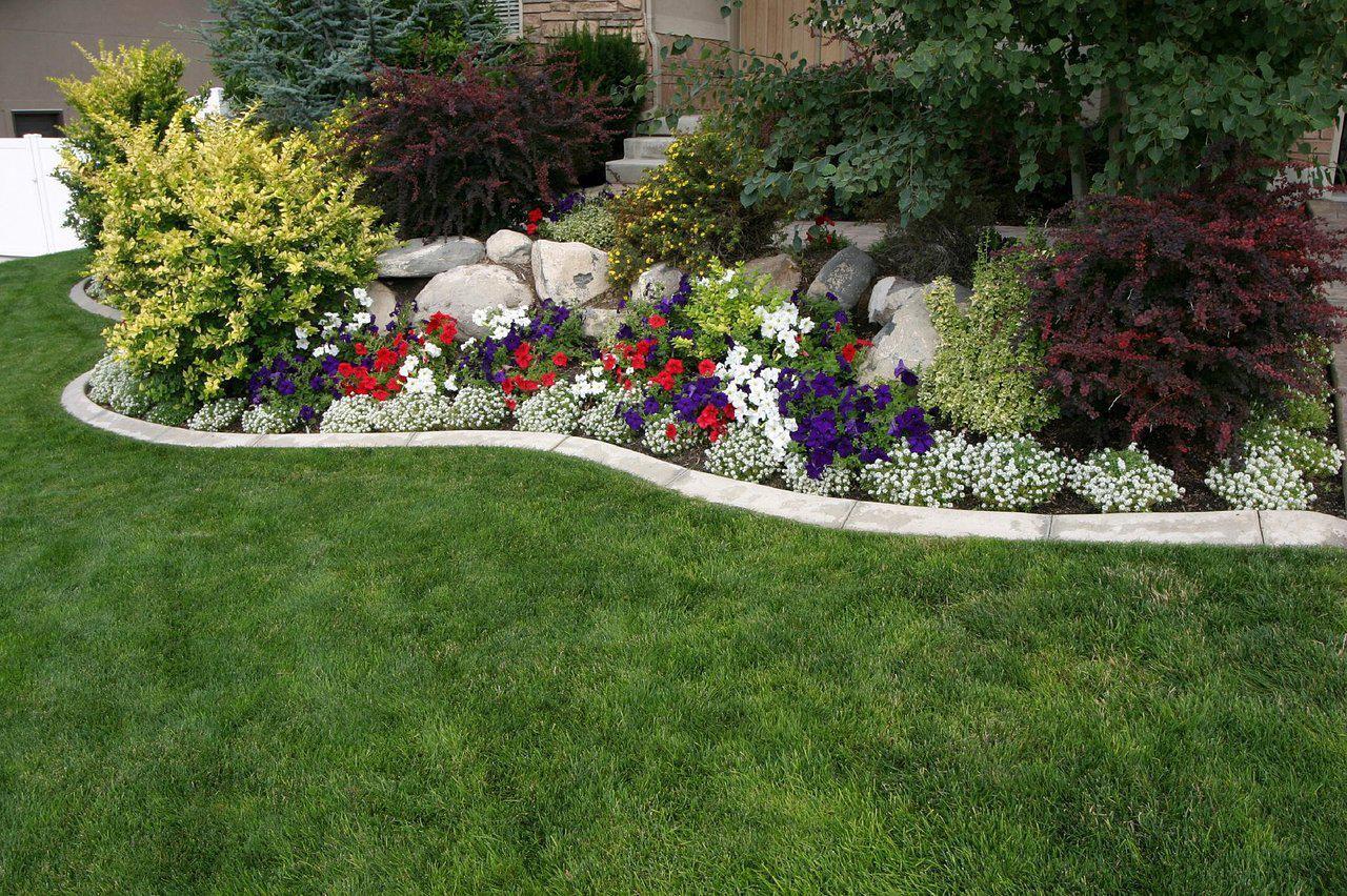 Landscape flower garden  small flower garden ideas  Garden Designing Idea  Pinterest