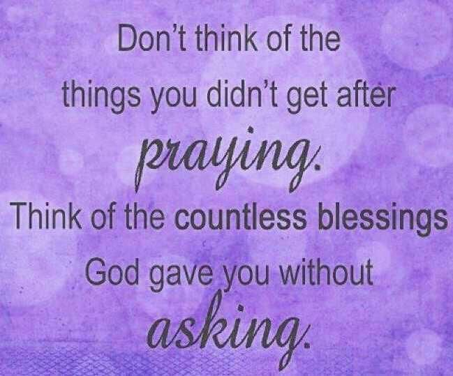 Countless blessings....