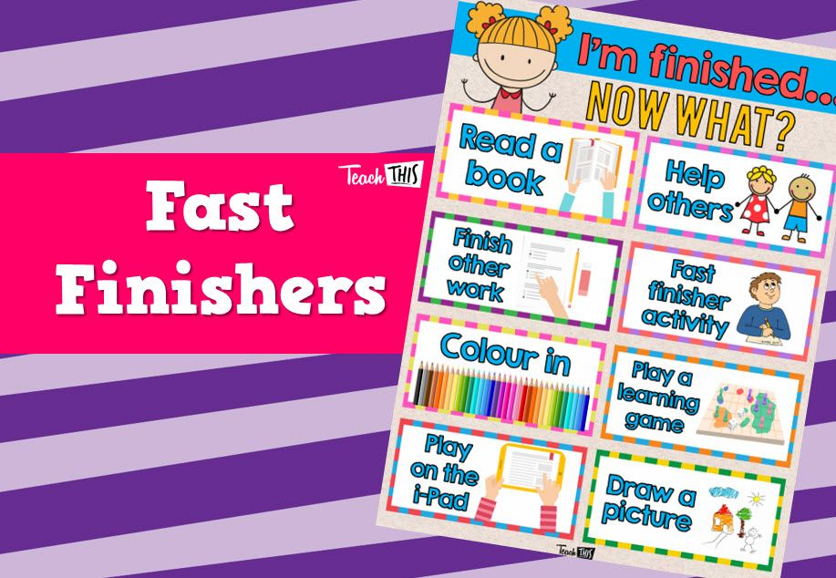 Fast Finishers Finished - Now What | Classroom Displays ...