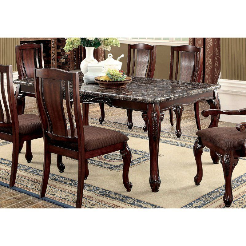 Furniture Of America Delaine Traditional Faux Marble Top Dining Awesome Cherry Dining Room Chairs Sale Decorating Design