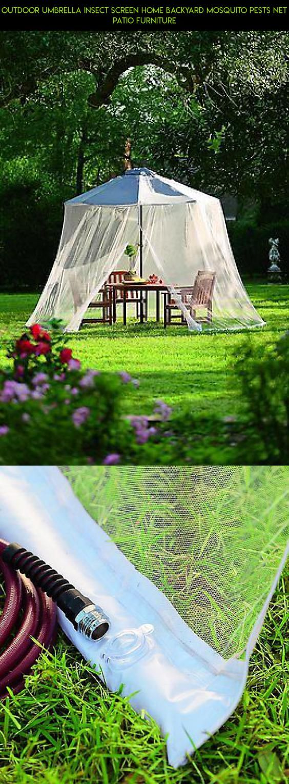 outdoor umbrella insect screen home backyard mosquito pests net