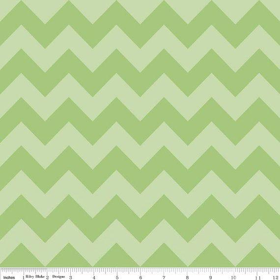 18 X 20 LAMINATED fabric Green tonal Chevron aka by Laminates ...