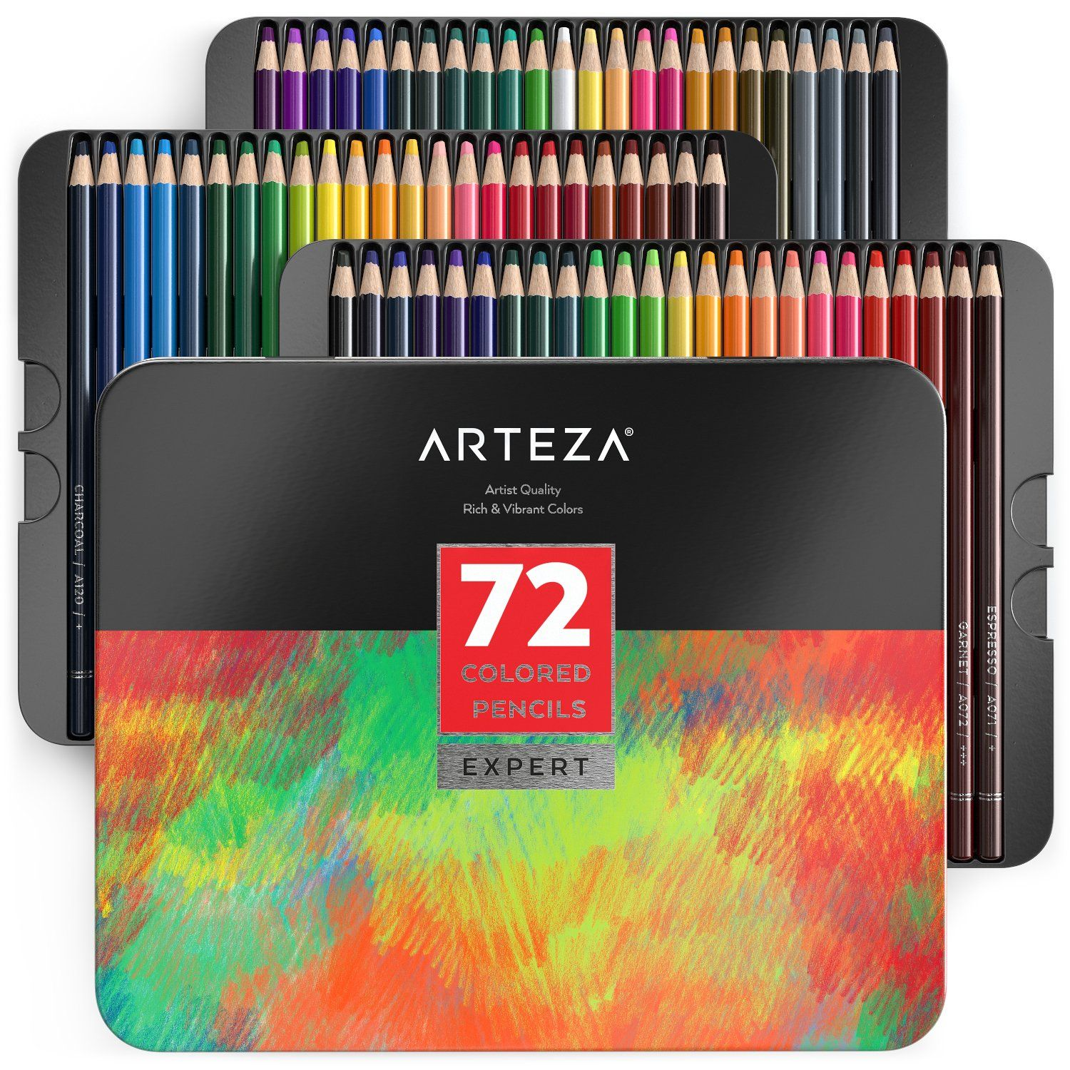 Professional Colored Pencils Set Of 72 Watercolor Pencils