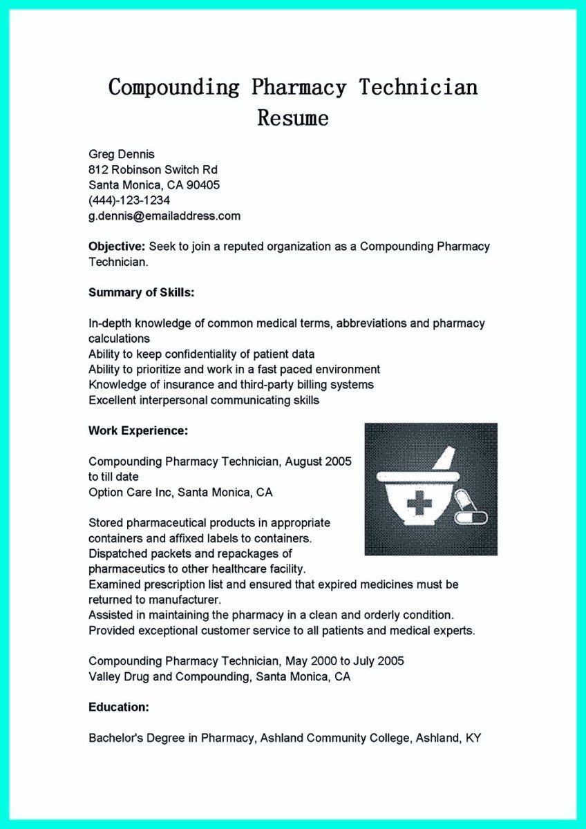 25 pharmacy technician resume objective in 2020 with