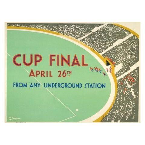 'Cup Final' 1930 football poster - Semi-Gloss - A3 (297 x 420mm)