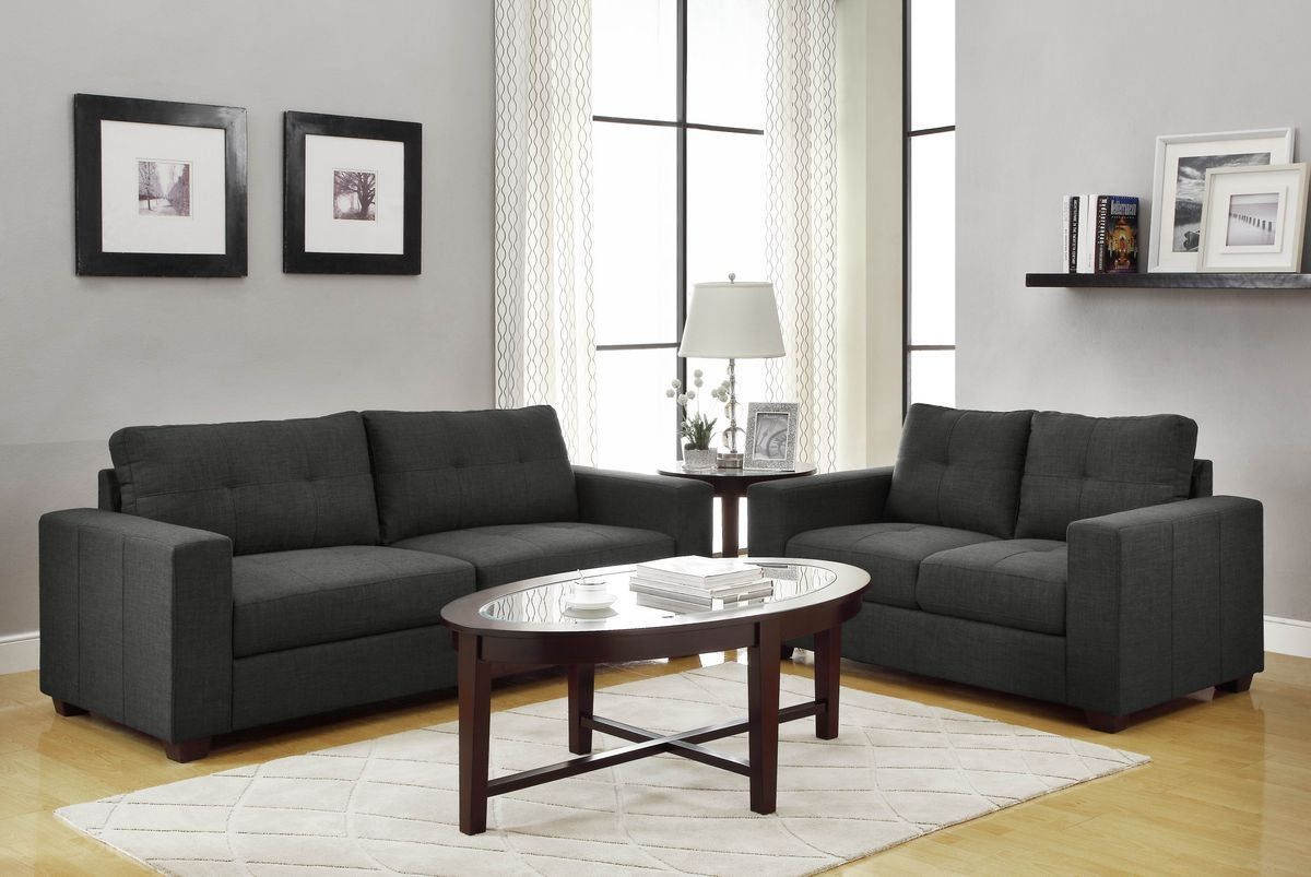 Home elegance pc ashmont collection squared arm dark grey