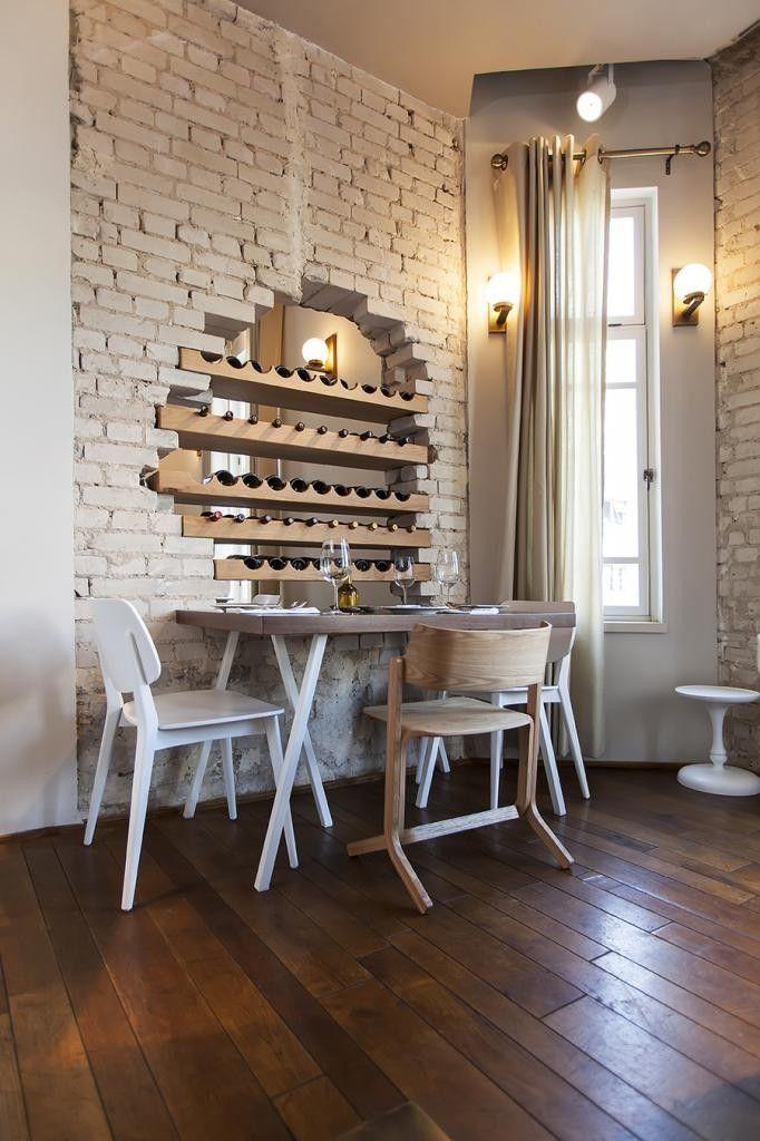 Break through the brick for a wine bar interior design