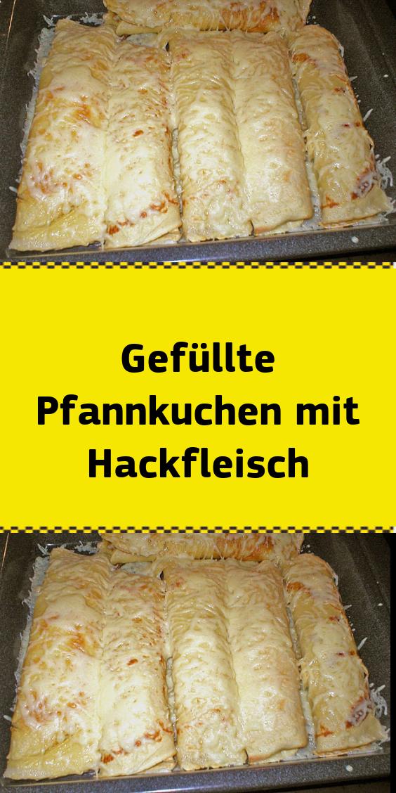 Gefüllte Pfannkuchen mit Hackfleisch #essenundtrinken