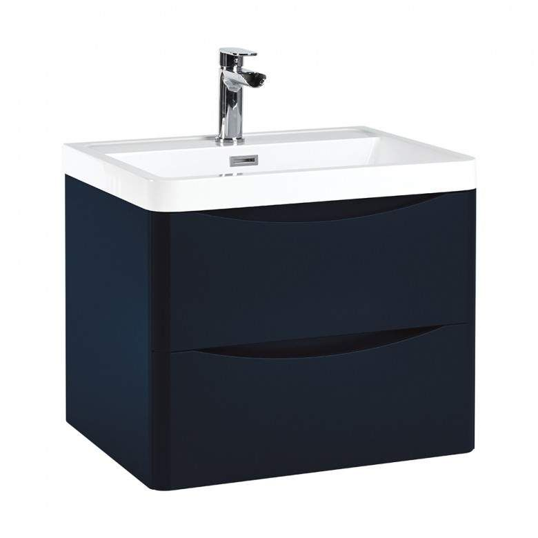 Harbour Clarity 600mm Wall Hung Vanity Unit Basin Indigo