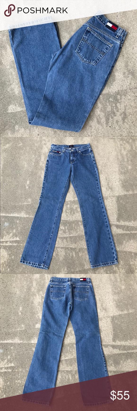 vintage tommy hilfiger patch jeans tommy hilfiger jeans patched