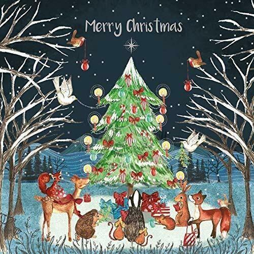 Woodland Animals Around Xmas Tree Magic Charity Christmas