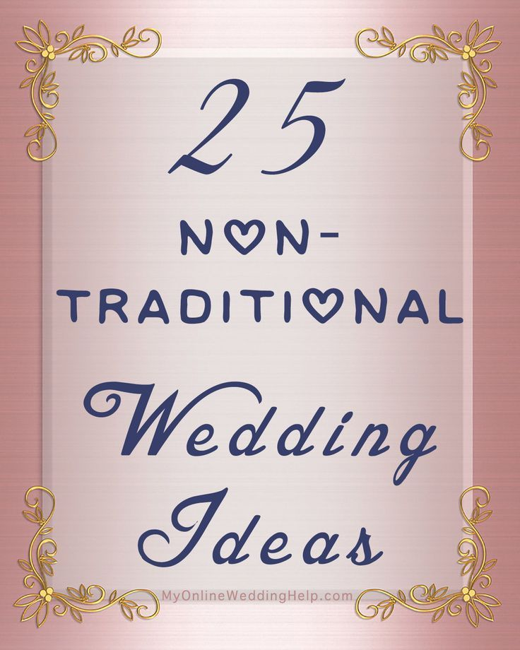 35 Non-traditional Wedding Ideas You May Not Have Thought