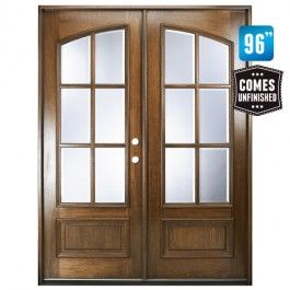 Square Top W Clear Glass Double Front Entry Door Front Entry Doors Double Entry Doors Arched Doors