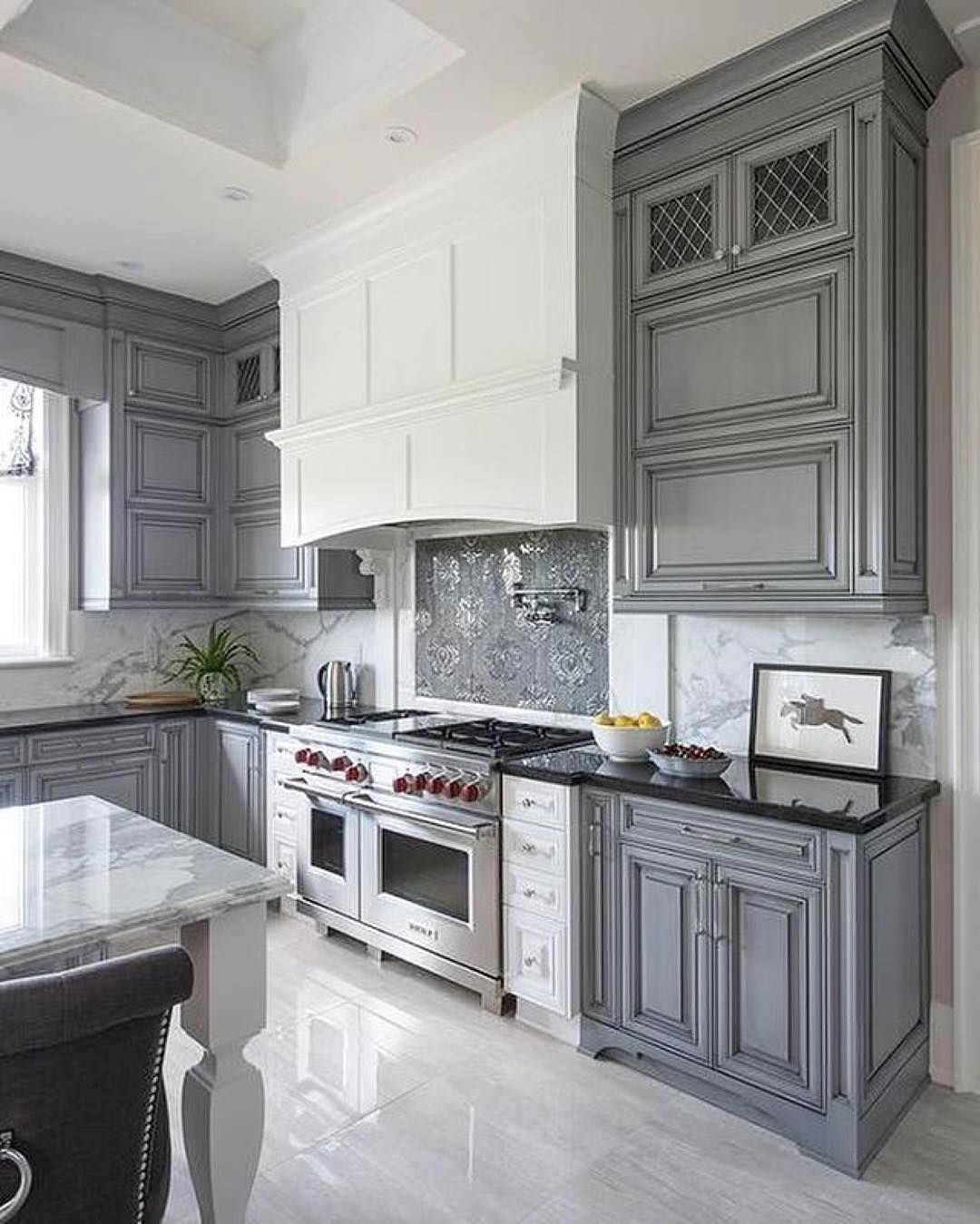 Designing A Home That You Love Means Seeing Yourself And Your Style Of Life In Every Room I Cook 5 Grey Kitchen Walls Kitchen Cabinet Design Kitchen Interior