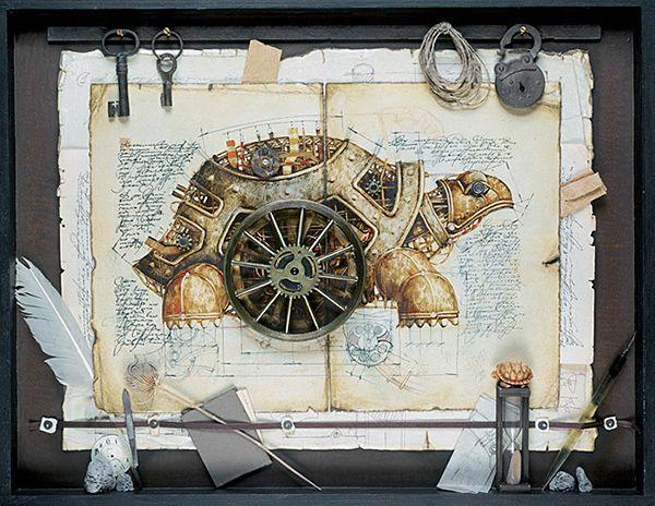 Mechanische Tierskizzen: Retro-Futurismus von Vladimir Gvozdev