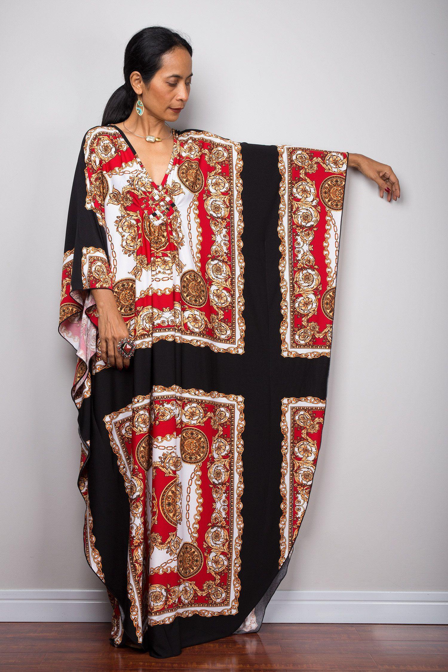 Boho Kaftan Dress Long Loose Fitting Maxi Frock Dress Summer Dress With Bohemian Print Fu1p Maxi Frocks Kaftan Dress Frock Dress [ 2250 x 1500 Pixel ]