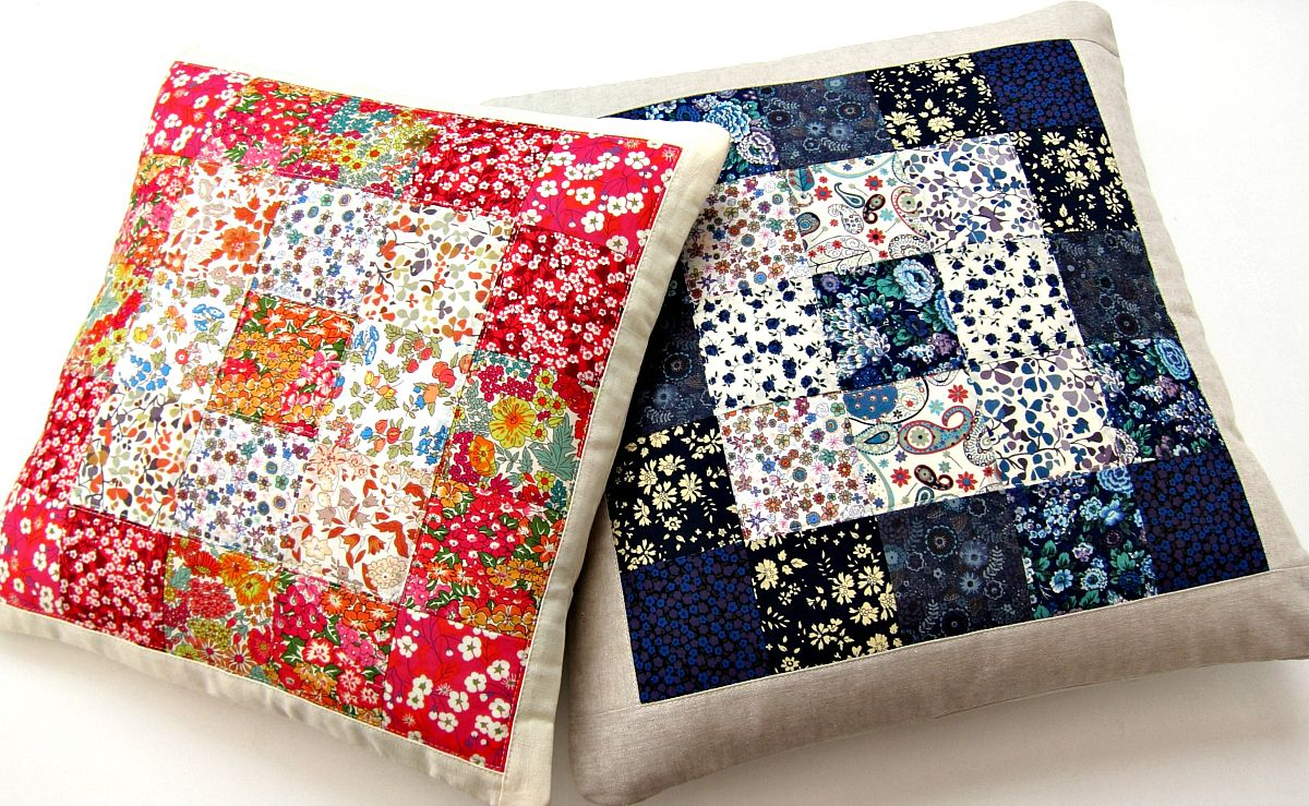 Nice Contrasting Quilted Pillows Diy For The Home