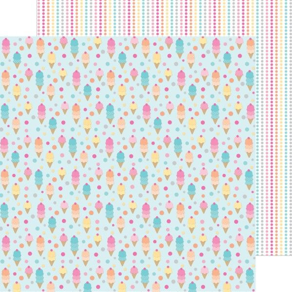Doodlebug Design - Sugar Shoppe Collection - 12 x 12 Double Sided - double lined paper