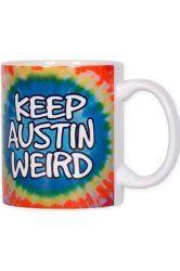 f4063269 Amazon.com: University Co-op Keep Austin Weird Tie-dye T-shirt By ...