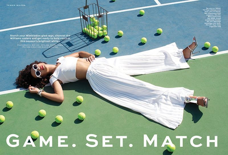 Stylist Arabia Shows How To Dress For The Tennis Court Sports Fashion Editorial Tennis Fashion Editorial Sports Fashion Photography