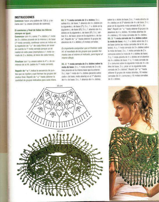Pin de Сергей Волдавин en пончо | Crochet, Crochet poncho y Crochet ...