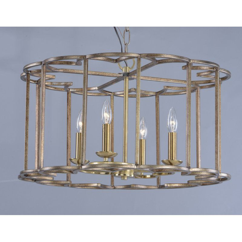 Delana 4 Light Candle Style Drum Chandelier In 2020