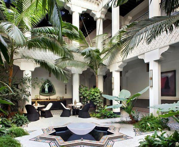 Resultado de imagen para patios interiores estilo marroqui, patios