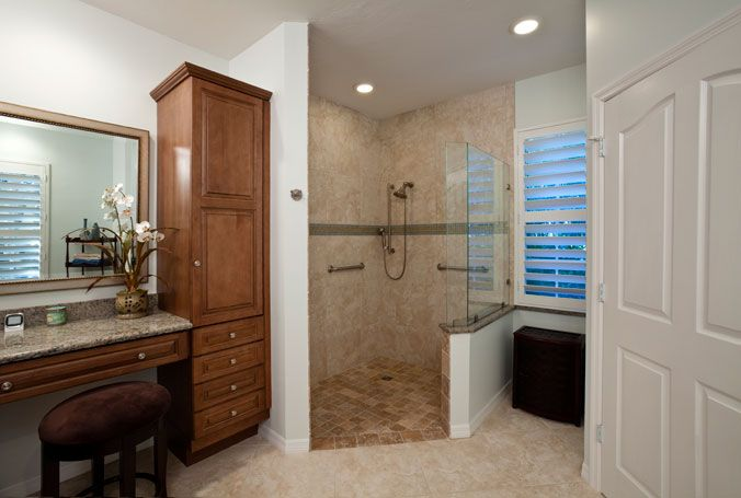 Aging In Place Home Modification Design Examples Universal Design Bathroom Accessible Bathroom Design Bathroom Design