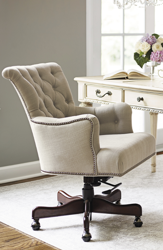 Button Tufted Linen Accented With Silver Nailhead Trim Defines The