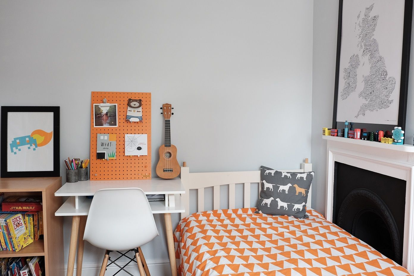 Grey Orange & White Cool Colours for an Older Boys Bedroom | News to ...