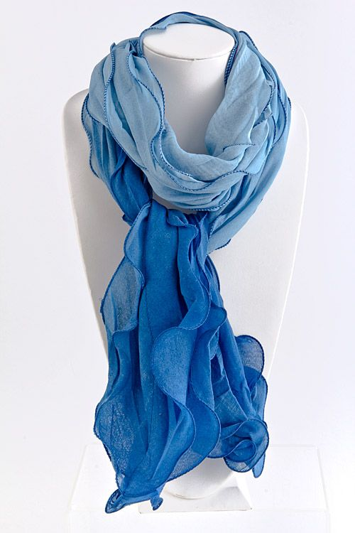 Sky Watercolor Scarf on Emma Stine Limited