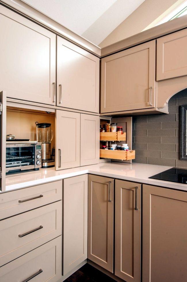 20 ideas to hide appliances in the kitchen kuchynské riešenia usporiadanie kuchyne kuchyne on kitchen appliances id=81406