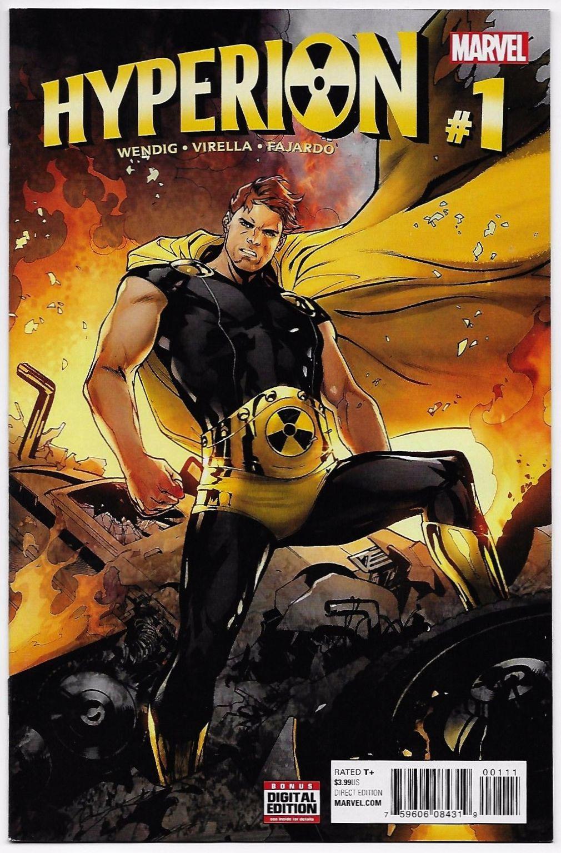 Hyperion 1 marvel 2016 nm marvel rare comic books
