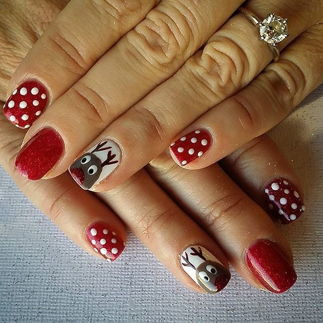 50 Holiday Nail Art Ideas That Will Put You in a Celebratory Mood ...