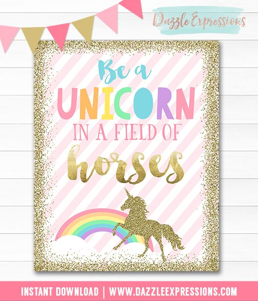 picture relating to Be a Unicorn in a Field of Horses Free Printable called How toward Toss the Great Unicorn Get together Saige Birthday