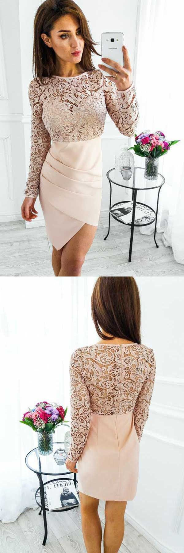 Shortpromdresses lace prom dresses knee length prom dresses
